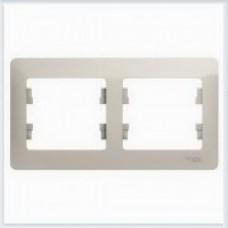 Рамка 2-ая, горизонтальная Glossa Молочный GSL000902
