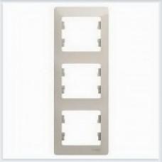 Рамка 3-ая, вертикальная Glossa Молочный GSL000907