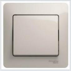 Выключатель 1-клавишный, в сборе, сх.1 Glossa Молочный GSL000912