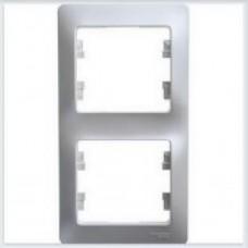 Рамка 2-я, вертикальная Glossa Перламутр GSL000606