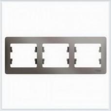 Рамка 3-ая, горизонтальная Glossa Платина GSL001203