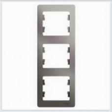 Рамка 3-ая, вертикальная Glossa Платина GSL001207