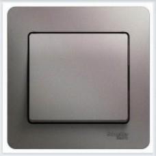 Выключатель 1-клавишный, в сборе Glossa Платина GSL001212