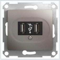 Розетка USB Glossa Платина GSL001232