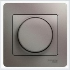 Светорегулятор (диммер) поворотный, 300Вт, в сборе Glossa Платина GSL001234