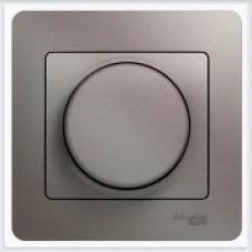 Светорегулятор (диммер) универсальный, 600Вт/ВА, в сборе Glossa Платина GSL001236