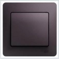Выключатель 1-клавишный, в сборе Glossa Сиреневый туман GSL001412
