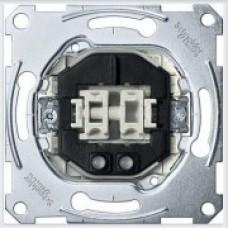 Merten Выключатель 2-клавишный 10AX с подсветкой