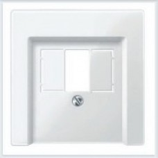 Merten Накладка для механизма TAE/Audio/USB Белый глянец