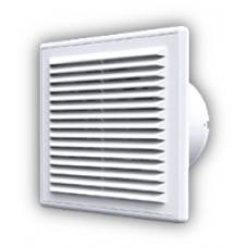 C 4S C ET, Вентилятор осевой вытяжной c антимоскитной сеткой, обратным клапаном и электронным таймером D 100