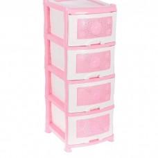 """Комод пластиковый """"Ромашка"""" розовый"""